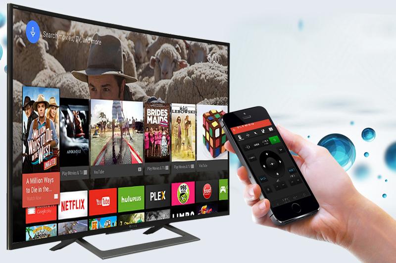 Android Tivi Sony Cong 50 inch KD-50S8000D - Điều khiển tivi bằng điện thoại