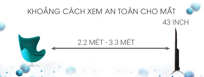 Smart Tivi TCL 43 inch L43Z2 - Khoảng cách xem TV