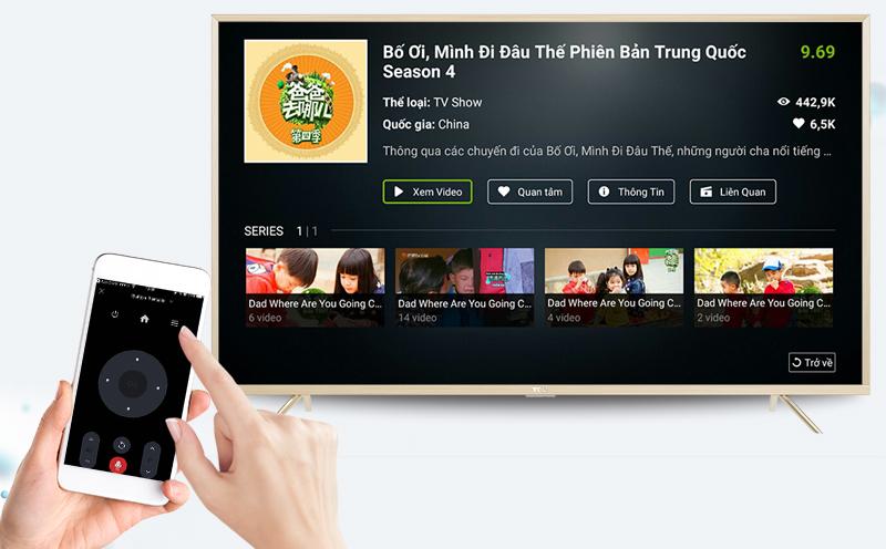 Smart Tivi TCL 43 inch L43Z2 - Điều khiển tivi bằng điện thoại