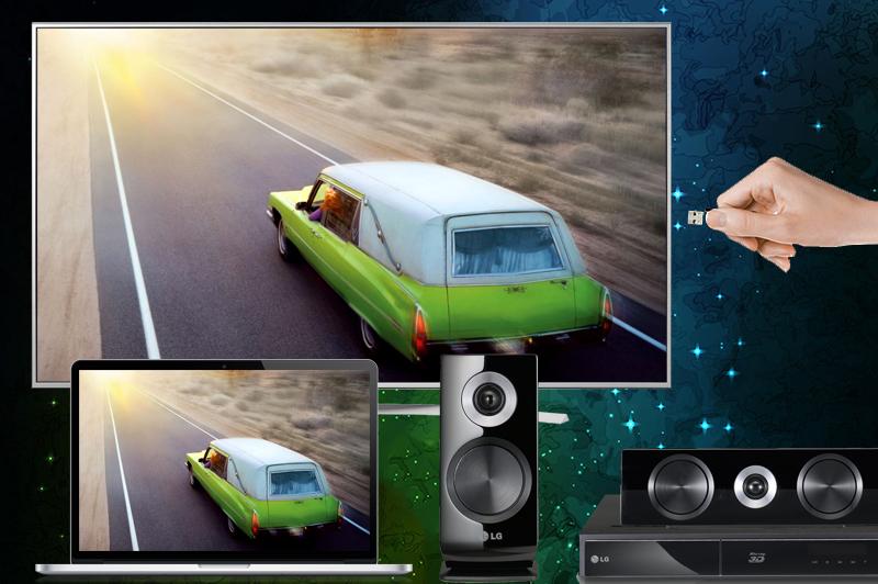 Smart Tivi Cong OLED LG 55 inch 55C6T – Kết nối linh hoạt