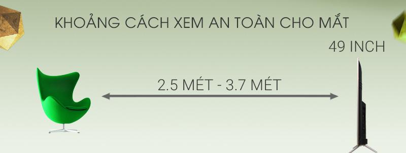 Smart Tivi TCL 49 inch L49Z2 - Khoảng cách xem TV