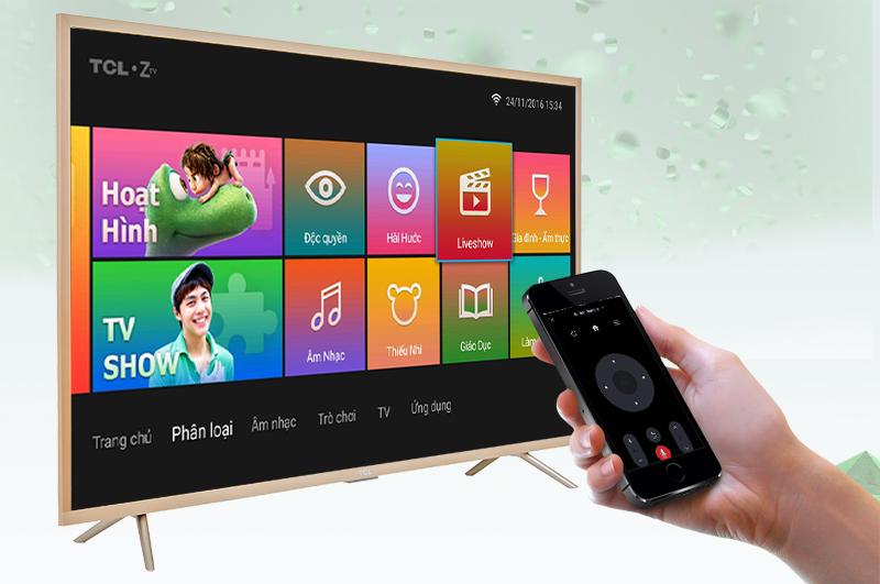 Smart Tivi TCL 49 inch L49Z2 - Điều khiển tivi bằng điện thoại