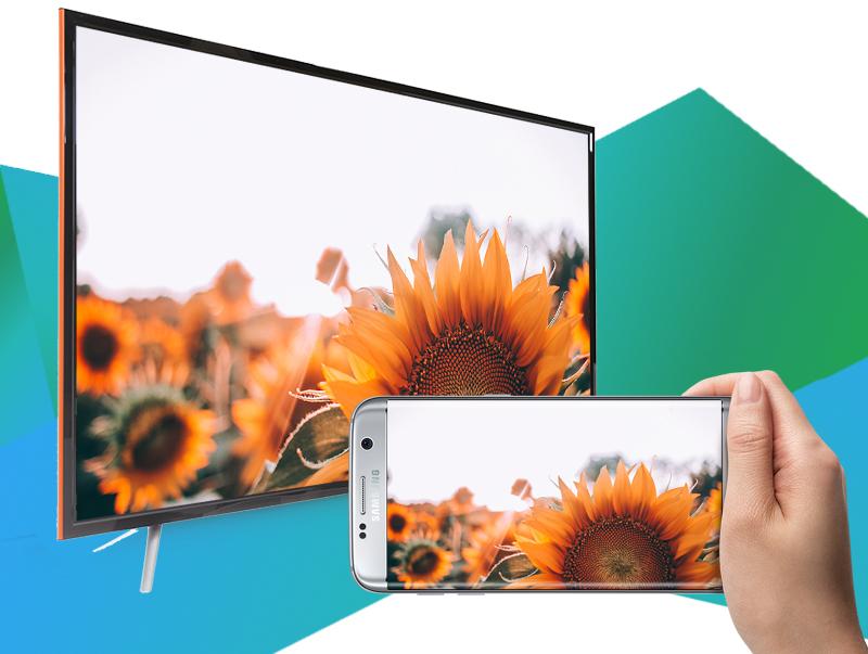 Smart Tivi TCL 43 inch L43S6100 - Chiếu màn hình điện thoại lên tivi