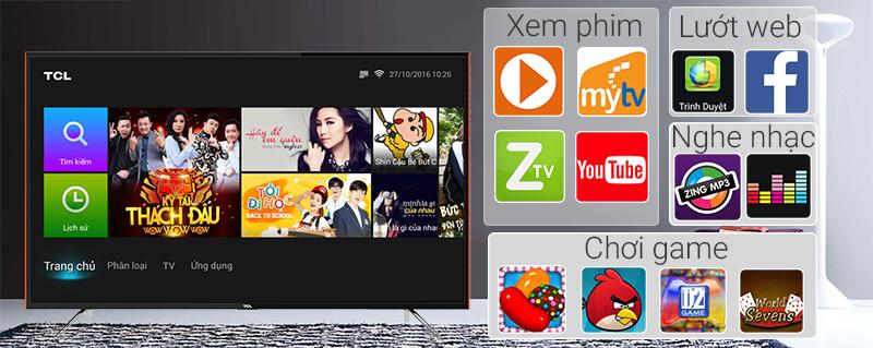 Smart Tivi TCL 32 inch L32S6100 - Ứng dụng