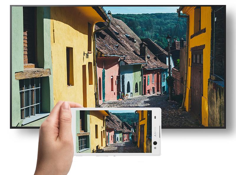 Android Tivi Sony 43 inch KD-43X8000E - Chiếu màn hình điện thoại lên tivi