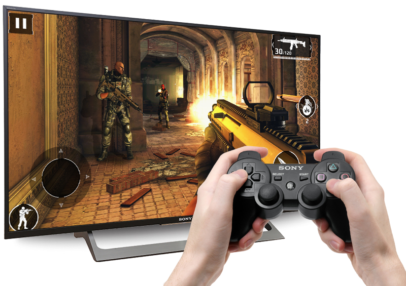 Android Tivi Sony 43 inch KD-43X8000E - Kết nối tay game