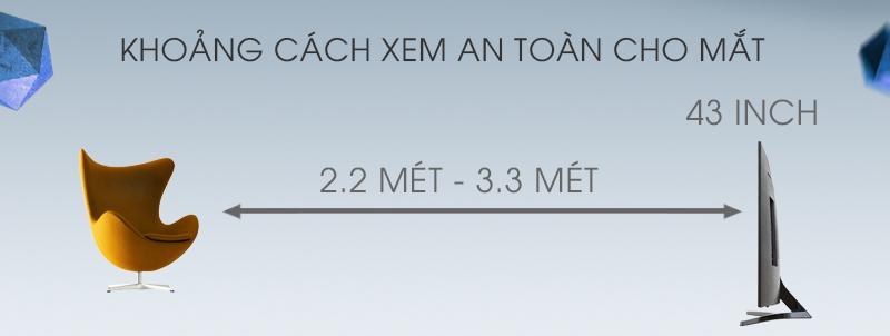 Android Tivi Sony 43 inch KD-43X8000E - Khoảng cách tốt nhất khi xem tivi