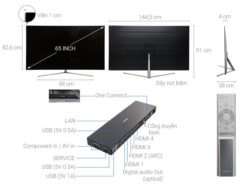 Thông số kỹ thuật Smart Tivi QLED 65 inch Samsung QA65Q7F