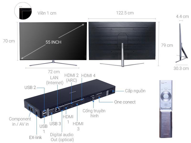 Thông số kỹ thuật Smart Tivi QLED Samsung 4K 55 inch QA55Q7F