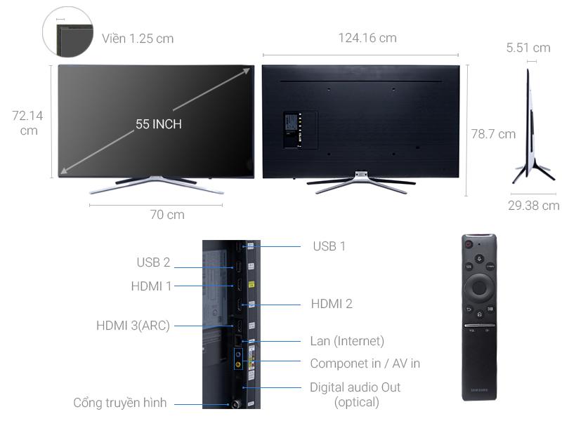 Thông số kỹ thuật Smart Tivi Samsung 55 inch UA55M5500