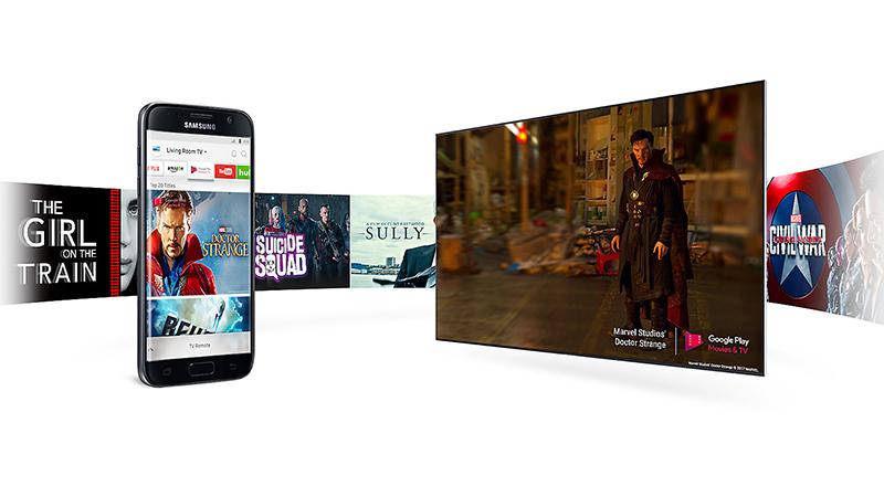 Điều khiển tivi, chia sẻ hình ảnh từ điện thoại