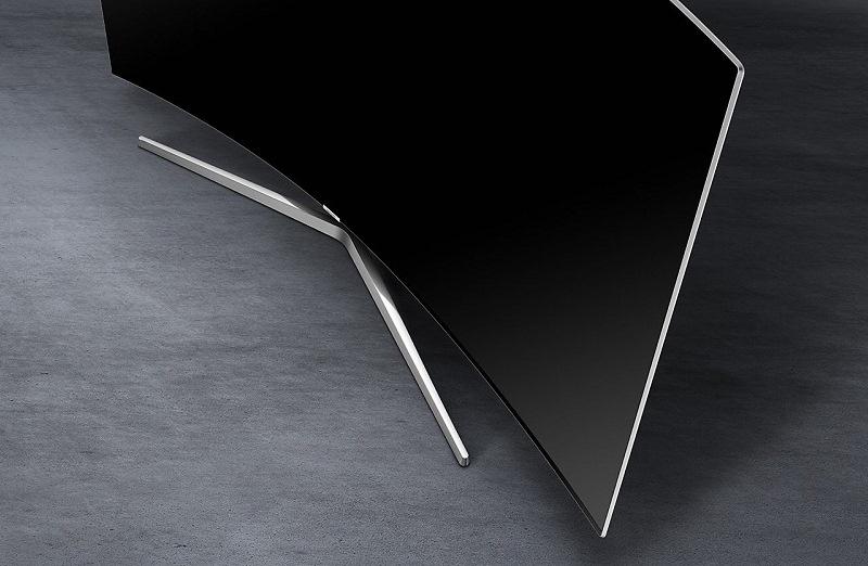 Smart Tivi Cong Samsung 55 inch UA55MU9000 - Chân đế cứng cáp