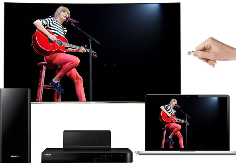 Smart Tivi Cong Samsung 55 inch UA55MU8000 - Việc chia sẻ dữ liệu dễ dàng hơn bao giờ hết
