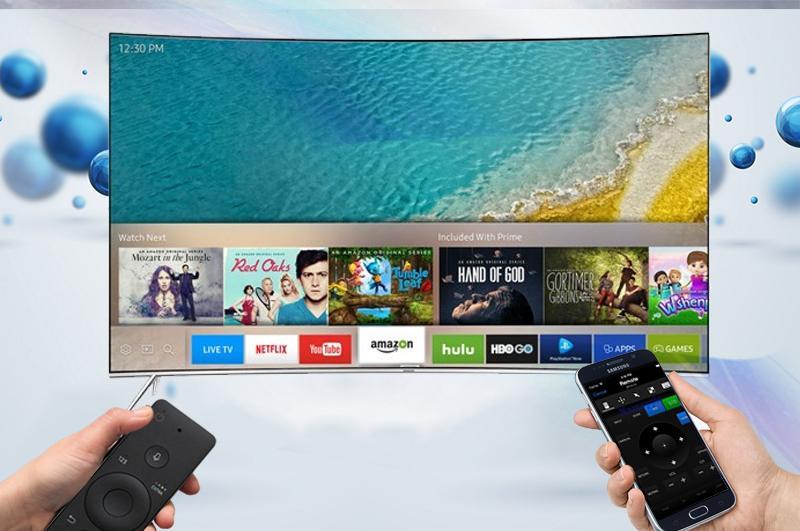 Smart Tivi Cong Samsung 55 inch UA55MU8000 - Điều khiển tivi qua điện thoại