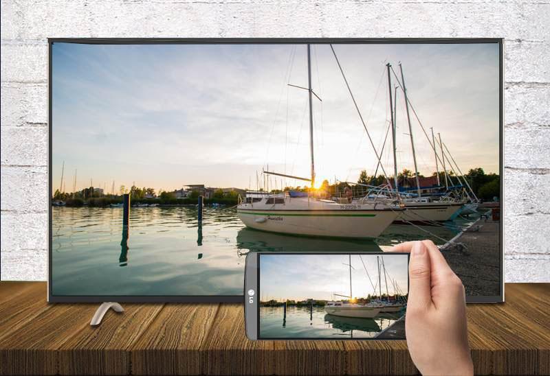 Khả năng chia sẻ nội dung từ màn hình điện thoại lên tivi