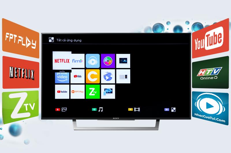 Smart Tivi Sony 43 inch KDL-43W750E - Mở rộng khả năng giải trí thông qua kết nối internet