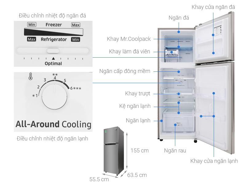 Thông số kỹ thuật Tủ lạnh Samsung Inverter 236 lít RT22M4033S8/SV