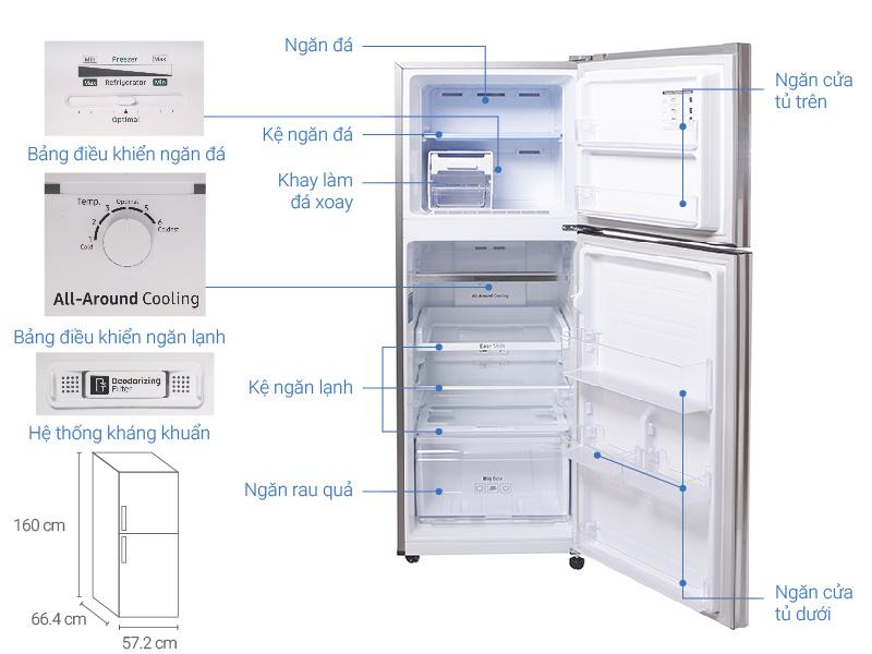 Thông số kỹ thuật Tủ lạnh Samsung 236 lít RT22M4033S8/SV