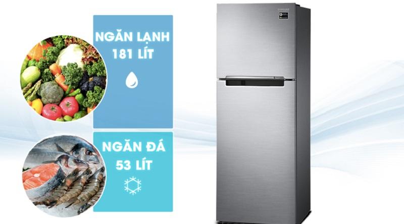 Dung tích tủ lạnh tới 236 lít - Tủ lạnh Samsung Inverter 236 lít RT22M4033S8/SV