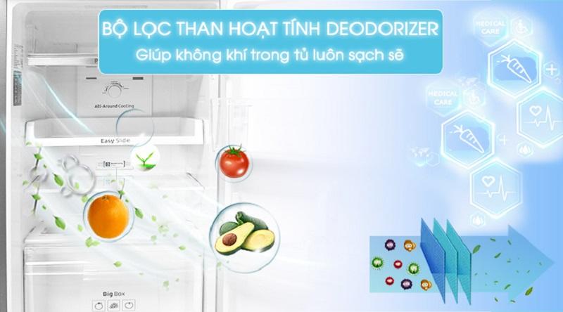 Bảo vệ sức khỏe gia đình bạn với bộ lọc than hoạt tính Deodorizer - Tủ lạnh Samsung Inverter 236 lít RT22M4033S8/SV