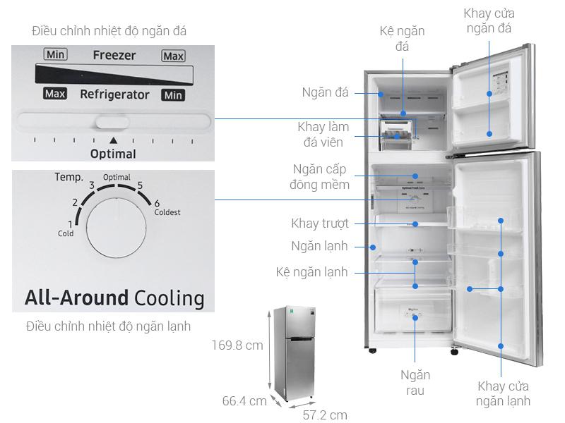 Thông số kỹ thuật Tủ lạnh Samsung Inverter 256 lít RT25M4033S8/SV
