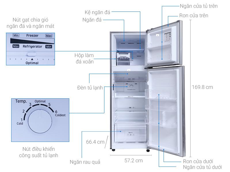 Thông số kỹ thuật Tủ lạnh Samsung 256 lít RT25M4033S8/SV