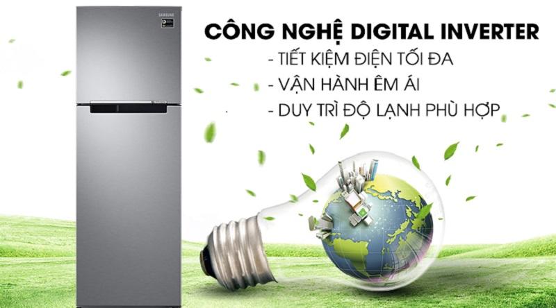 Tiết kiệm điện năng với công nghệ Digital Inverter - Tủ lạnh Samsung Inverter 256 lít RT25M4033S8/SV