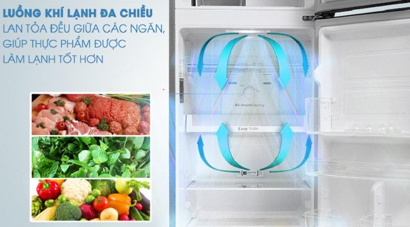 Làm lạnh tốt hơn với hệ thống làm lạnh đa chiều - Tủ lạnh Samsung Inverter 256 lít RT25M4033S8/SV