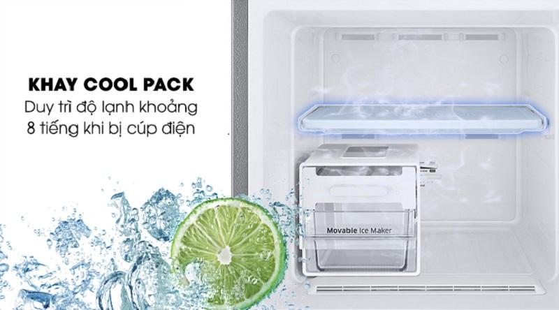 Vẫn duy trì tốt nhiệt độ ngay cả khi mất điện với khay Cool Pack - Tủ lạnh Samsung Inverter 256 lít RT25M4033S8/SV