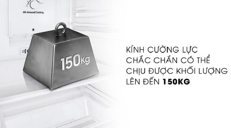 Thoải mái lưu trữ bảo quản thực phẩm với khay kính chịu lực lớn - Tủ lạnh Samsung Inverter 256 lít RT25M4033S8/SV