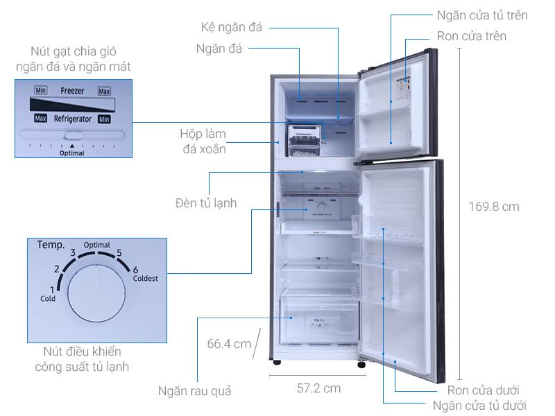 Thông số kỹ thuật Tủ lạnh Samsung Inverter 256 lít RT25M4033UT/SV