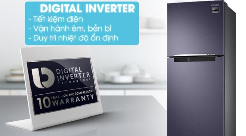 Vận hành êm ái, tiết kiệm điện năng với Công nghệ Digital Inverter - Tủ lạnh Samsung Inverter 256 lít RT25M4033UT/SV