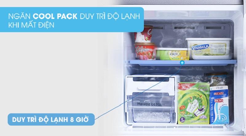 Duy trì tốt nhiệt độ khi mất điện với ngăn Cool Pack - Tủ lạnh Samsung Inverter 256 lít RT25M4033UT/SV