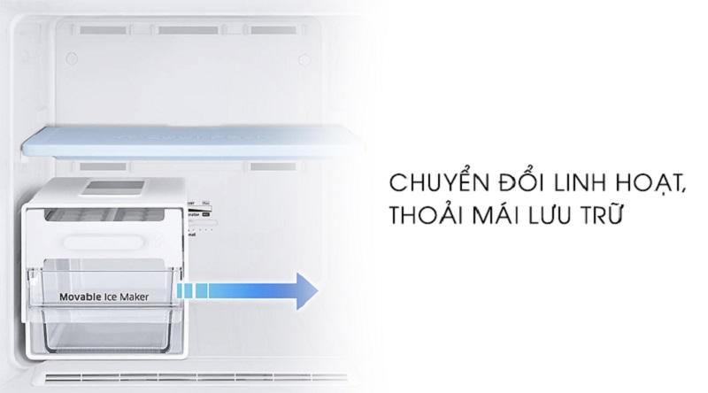 Hộp chứa đá thiết kế kế di động thoải mái di chuyển - Tủ lạnh Samsung Inverter 256 lít RT25M4033UT/SV