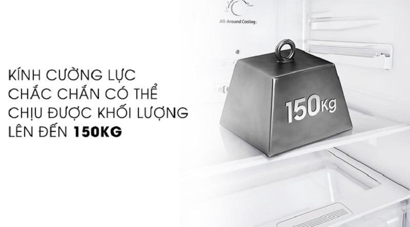 Khay kính chịu lực tốt - Tủ lạnh Samsung Inverter 256 lít RT25M4033UT/SV
