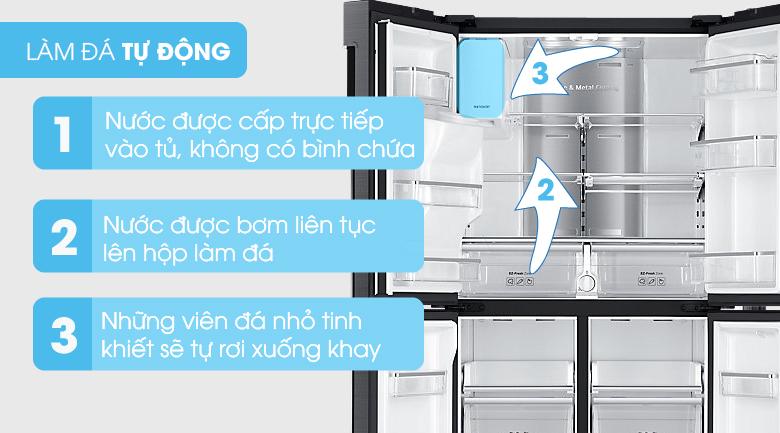 Tiện lợi hơn với khả năng tự làm đá - Tủ lạnh Samsung Inverter 564 lít RF56K9041SG/SV