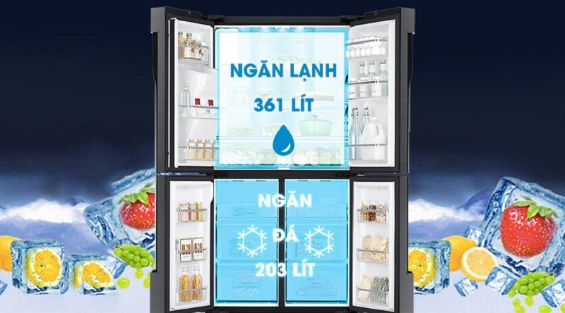 Thoải mái sử dụng với dung tích 564 lít - Tủ lạnh Samsung Inverter 564 lít RF56K9041SG/SV