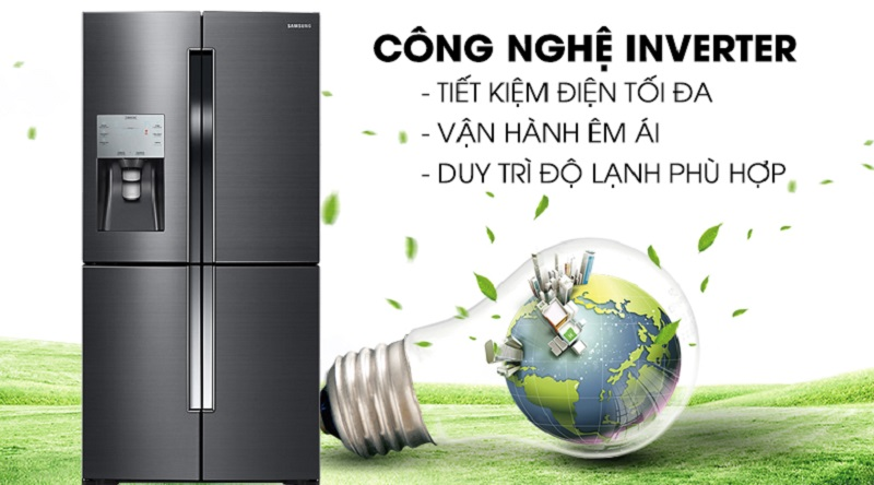 Vận hành tốt hơn với công nghệ Inverter hiện đại - Tủ lạnh Samsung Inverter 564 lít RF56K9041SG/SV