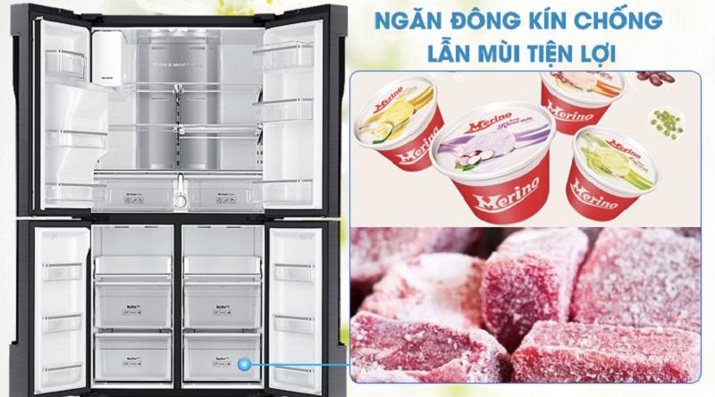 Ngăn đông thiết kế chống lẫn mùi cực tốt - Tủ lạnh Samsung Inverter 564 lít RF56K9041SG/SV