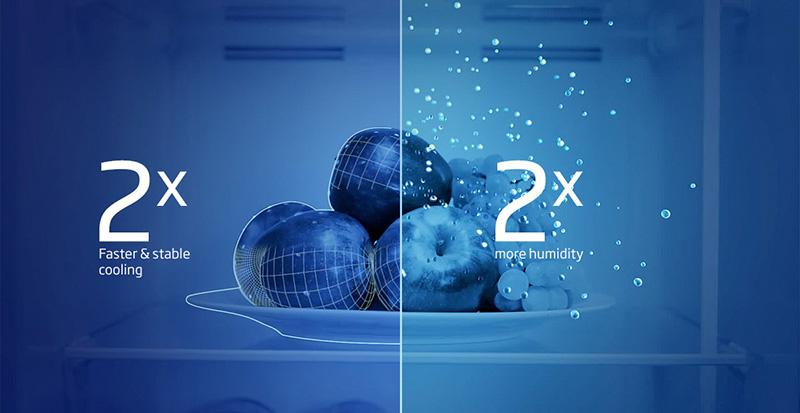 Công nghệ NeoFrost kết hợp 2 dàn lạnh độc lập