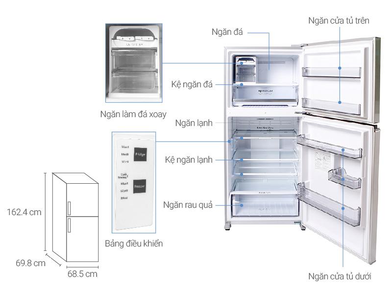 Thông số kỹ thuật Tủ lạnh Panasonic 363 lít NR-BD418VSVN