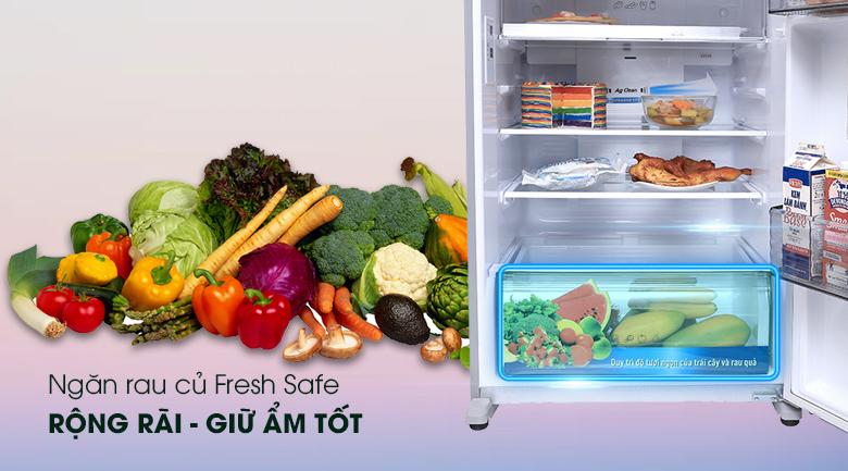 Ngăn rau quả giữ ẩm Fresh Safe - Tủ lạnh Panasonic Inverter 363 lít NR-BD418VSVN