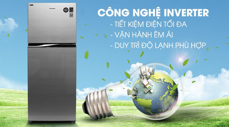 Công nghệ biến tần Inverter giúp tiết kiệm điện năng - Tủ lạnh Panasonic Inverter 405 lít NR-BD468VSVN