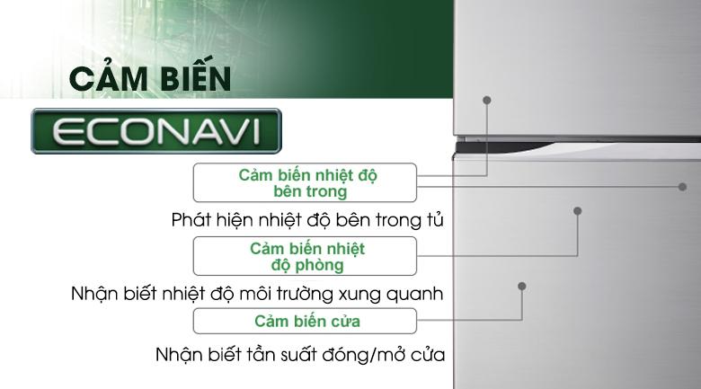 Cảm biến Econavi tiết kiệm điện năng hơn nữa - Tủ lạnh Panasonic Inverter 405 lít NR-BD468VSVN