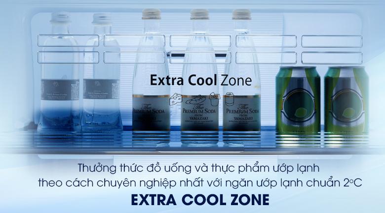 Ngăn làm lạnh nhanh thức uống Extra Cool Zone chuẩn 2 độ C mát lạnh tức thì - Tủ lạnh Panasonic Inverter 405 lít NR-BD468VSVN