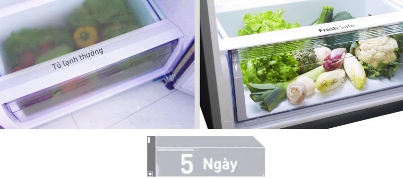 Ngăn chuyên dụng Fresh Safe cho rau củ tươi ngon như mới