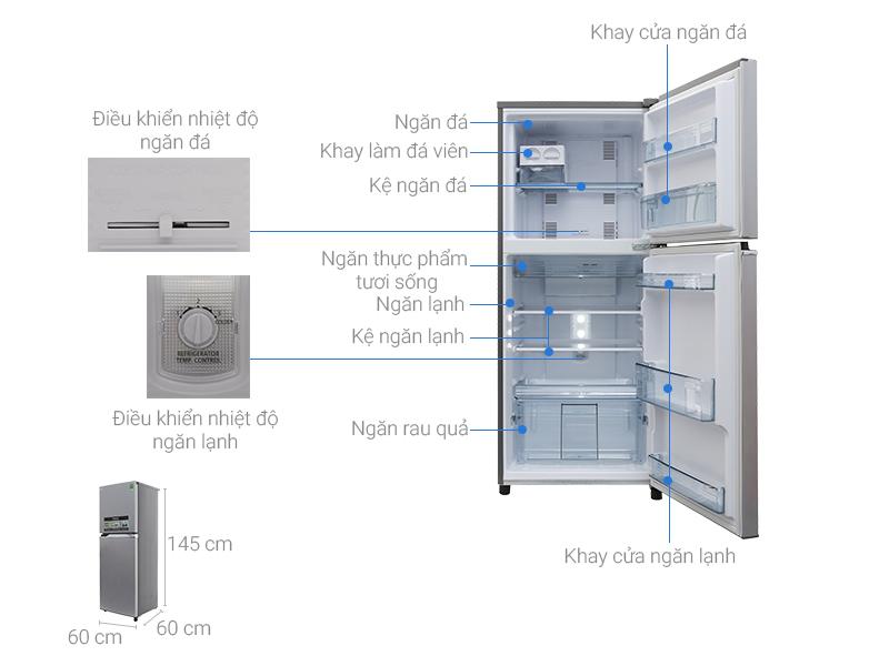 Thông số kỹ thuật Tủ lạnh Panasonic Inverter 234 lít NR-BL267VSV1