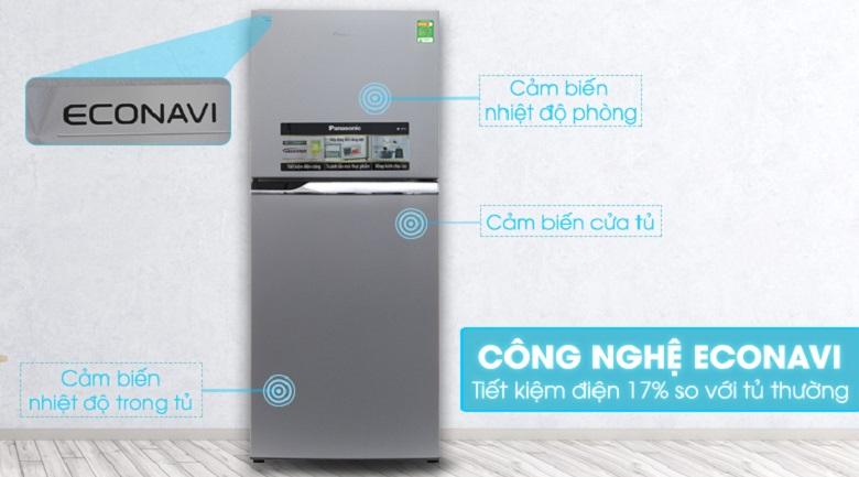 Tích hợp cảm biến Econavi hiện đại - Tủ lạnh Panasonic 234 lít NR-BL267VSV1