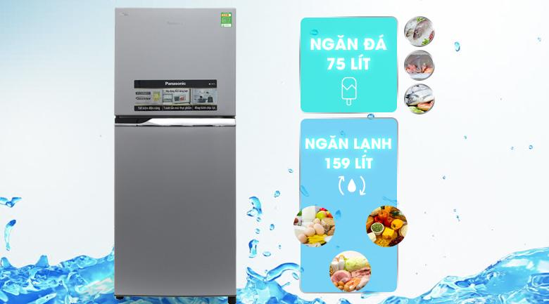 Dung tích - Tủ lạnh Panasonic 234 lít NR-BL267VSV1