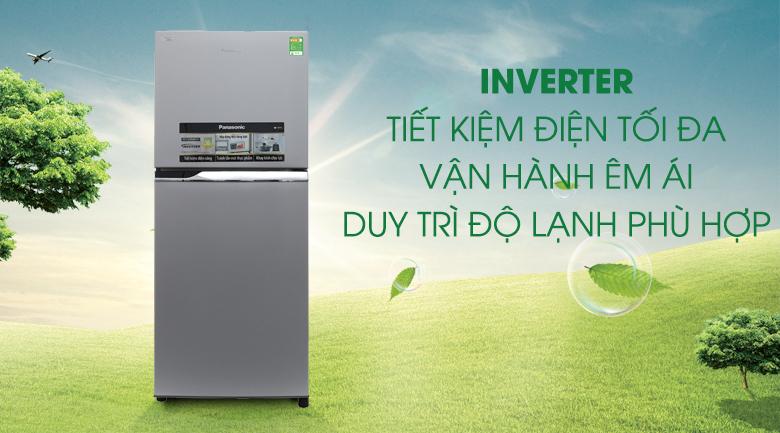 Tủ lạnh Inverter tiết kiệm điện, vận hành êm ái, bền bỉ -Tủ lạnh Panasonic 234 lít NR-BL267VSV1
